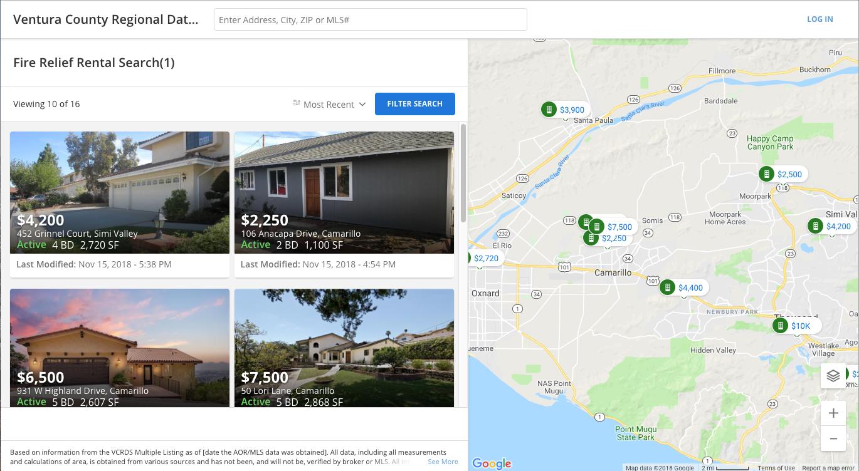 Fire Relief Rentals Information Ventura County Recovers